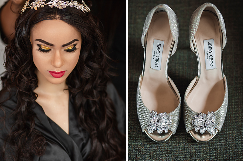 Bride-and-wedding-shoes